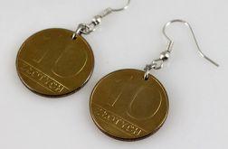Dziesiątki - kolczyki z monet