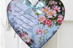 Serce Walentynki Życzenia Prezent Zawieszka