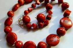 Zestaw biżuterii z korala, 2 elementy