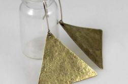 Trójkąty - mosiężne kolczyki 191117-05
