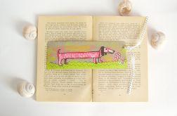 Zakładka do książki  z jamnikiem