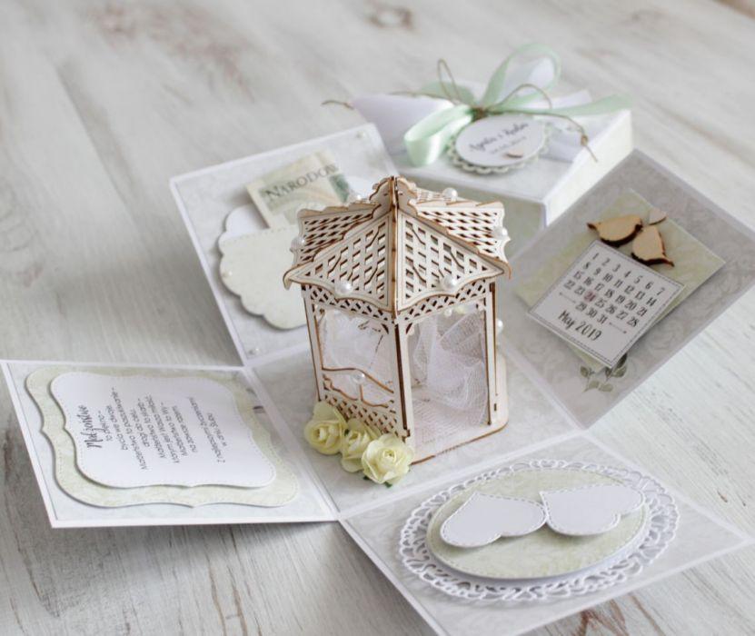 Pudełko - exploding box -ślub