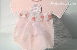 Kartka  sukieneczka na chrzest