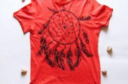 L-koszulka czerwona-łapacz snów