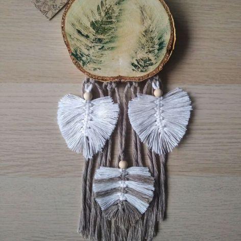 Rustykalny łapacz snów boho liść paproci