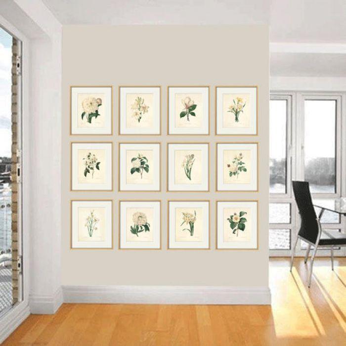 Kwiaty Vintage grafika wydruk prezent -
