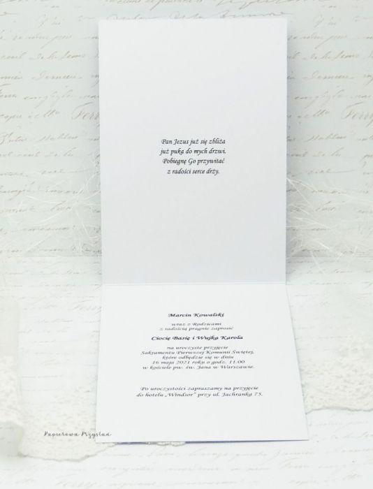 Zaproszenie na Komunię z grafiką ZK 25