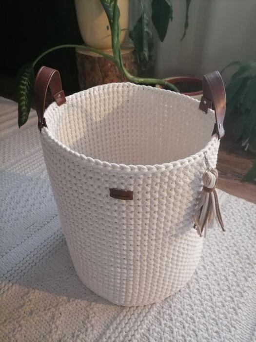 Kosz ze sznurka z uchwytami XL