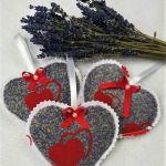 lawendowe serca ( woreczki lawendowe)