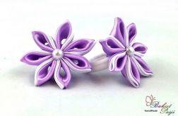 Gumki fioletowe do włosów