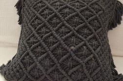 poduszka ozdobna z makramy