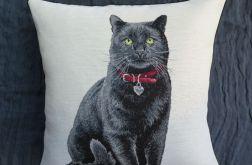 Poduszka gobelinowa Czarny Kot