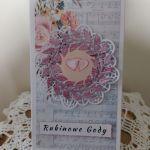 Kartka Rubinowe Gody - kartka rubinowe gody wnętrze