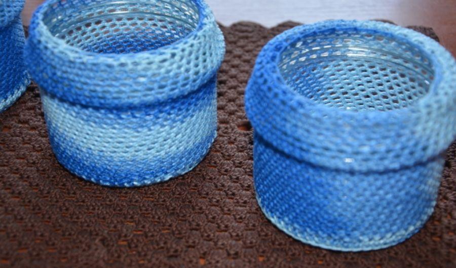 Niebieskie słoiczki -