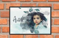 Akwarelowy portret dzieci