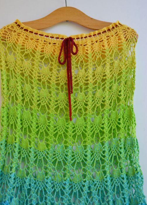 Szydełkowa spódniczka w ananasy - szydełkowa spódniczka