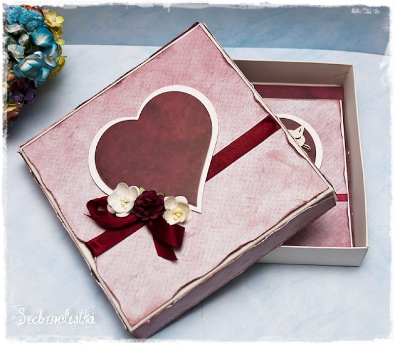 Ozdobne pudełko-zamówienie do kartki