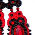 kolczyki Sutasz~~z czerwienią