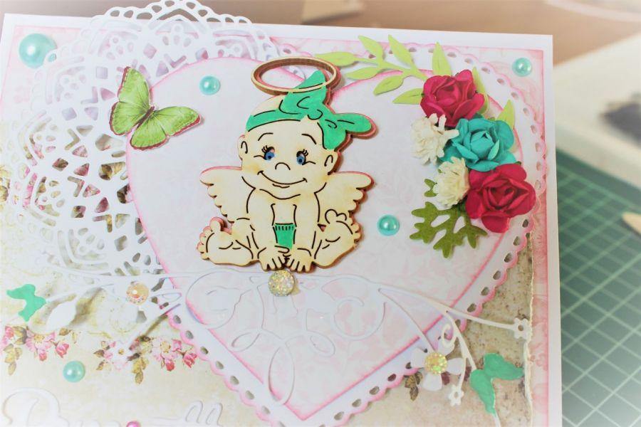 kartka z okazji chrztu sztalugowa