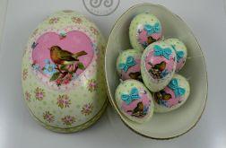 "Jajka 6szt. ""Ptak w sercu"" w pudełku"