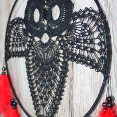 Koronkowy łapacz snów- sowa AG69