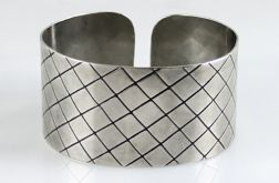 Metalowa bransoleta - kratka