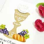 Zaproszenia na Pierwszą Komunię Świętą chleb - Zaproszenia na Pierwszą Komunię Świętą