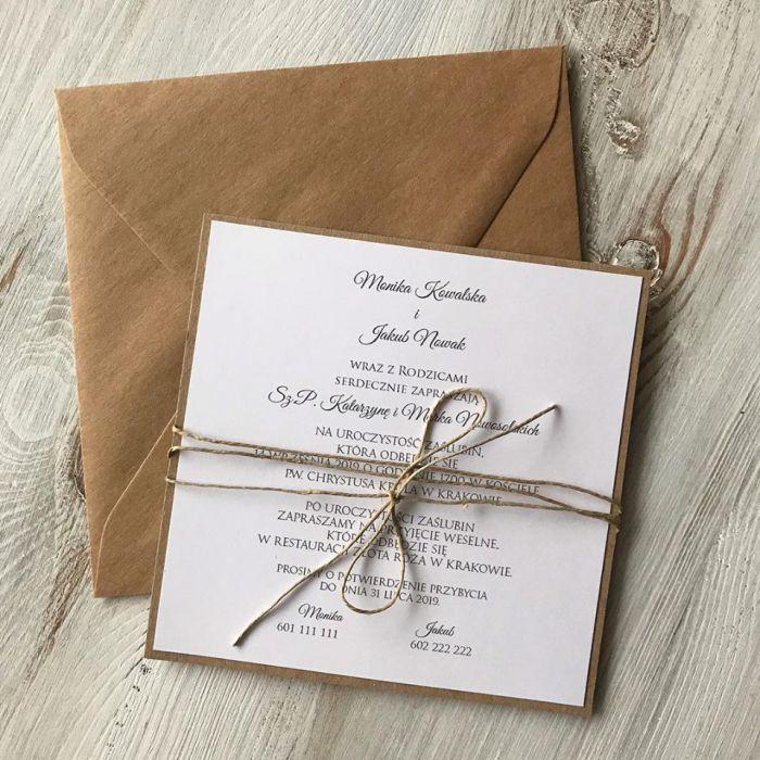 Zaproszenie na ślub - jednostronne -