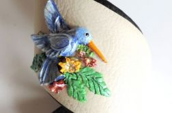 Unikatowa bransoleta ze skóry Koliber