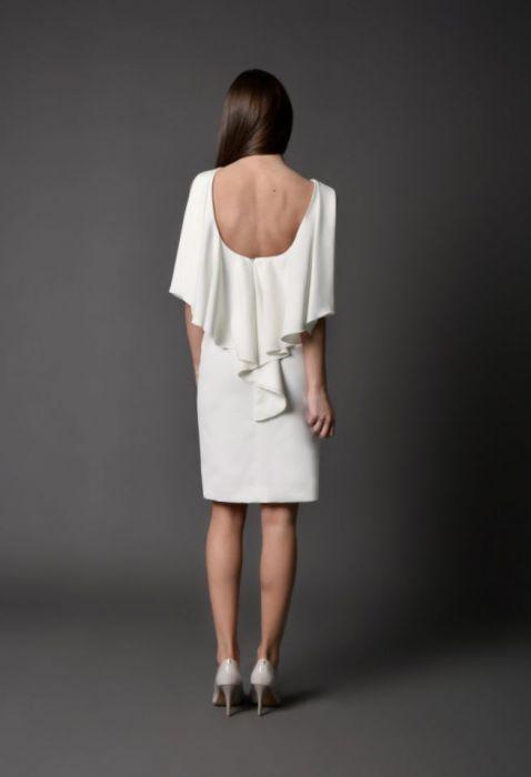 koktajlowa sukienka NATALIJA -kremowa