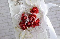 Czerwone róże kopertówki
