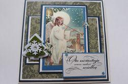 Kartka świąteczna z aniołem