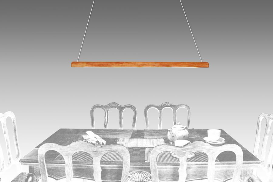 Lampa sufitowa LED dizajnerska z litego dębu
