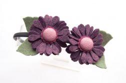 Opaska do włosów kwiatki fiolet
