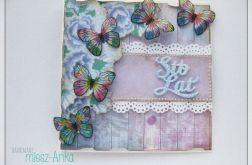 Kartka z motylkami na urodziny, imieniny