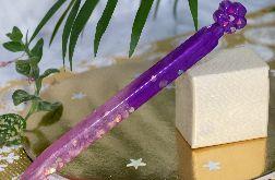 Długopis kwiatek z żywicy