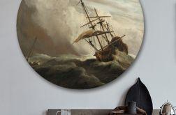 Poryw Wiatru - obraz w okrągłej ramię