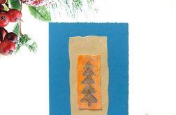 Kartka  świąteczna niebieska minimalizm 82