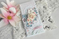 Ślubna kartka DL w pudełku 103
