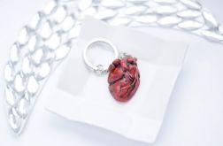 Anatomiczne serce brelok