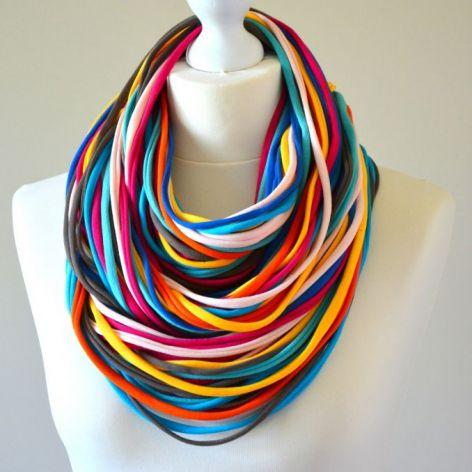 naszyjnik bawełniany kolorowy 4