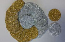 scrapki dla dzieci-kółeczka-brokat (100szt.)