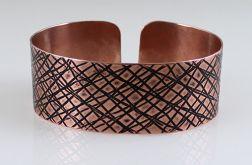 Miedziana bransoleta - skosy