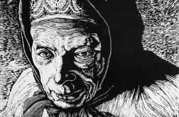 Góralka - portret staruszki - 100% handmade