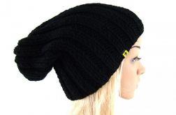 damska czapka ściągaczowa czarna