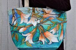 Ekologiczna, ręcznie malowana torba na zakupy