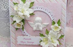 Pamiątka Chrztu dla dziewczynki - aniołek