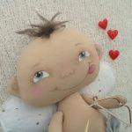 AMOREK, CHERUBINEK - dekoracja ścienna, OOAK - wesoły cherubinek