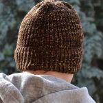 Ciepła męska melanżowa czapka wywijana
