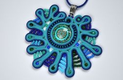 Wisiorek turkusowo-niebieski